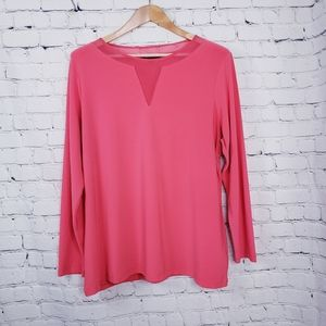 Addition Elle Coral Top Plus Career Trendy Sexy